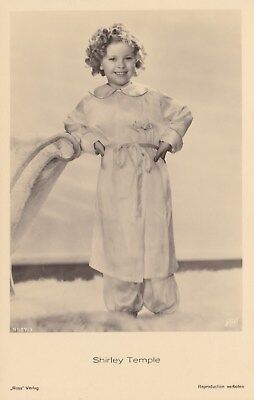 RARE! Shirley Temple Antique Vintage Original Ross Verlag Photo Postcard RPPC 22