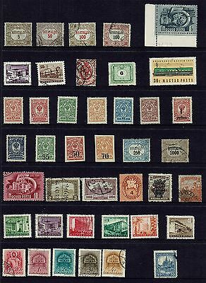 Hungary  Collection Of Various Stamps...page Lot