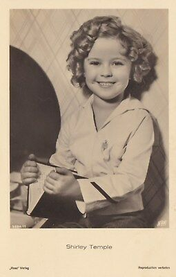 RARE! Shirley Temple Antique Vintage Original Ross Verlag Photo Postcard RPPC 24