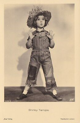 RARE! Shirley Temple Antique Vintage Original Ross Verlag Photo Postcard RPPC 25