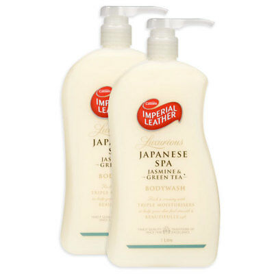 2x 1L Japanese Spa Jasmine + Green Tea Body Wash w/Triple Moisturiser/Soap Free