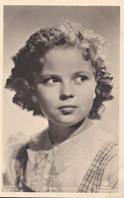 RARE! Shirley Temple Antique Vintage Original Ross Verlag Photo Postcard RPPC 26