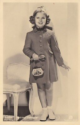 RARE! Shirley Temple Antique Vintage Original Ross Verlag Photo Postcard RPPC 27