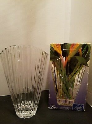 Cristal d Arques J.G. Durand  Flower Vase Style Fan Made in France