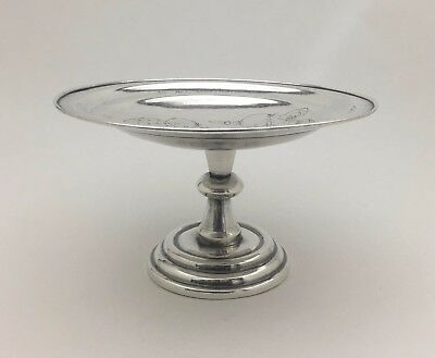 Engraved Boys Game Chinese Export Silver Sterling Candy Bowl Compote Dish Trophy