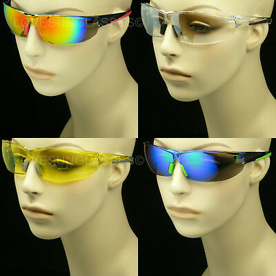 Sunglasses Glasses Clear Lens Men Women Shoot Frame Cycle Safety Ansi Z87+ New 1