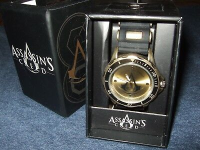 NIB Adult Men's Assassin's Creed Crest Live By The Creed Video Game Wrist Watch