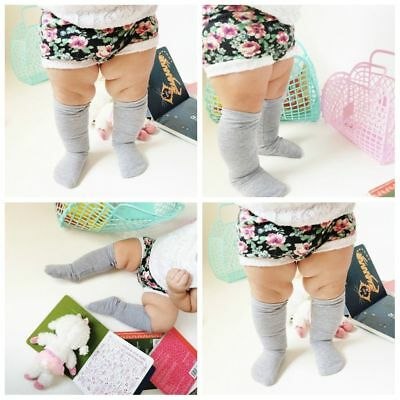 Baby Unisex Casual Socks Knee High Solid Cute Socks Long Tube Kids Leg Warmer