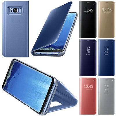 For Samsung Galaxy S8 S8 Plus Hot! Smart View Genuine Leather Flip Window Case
