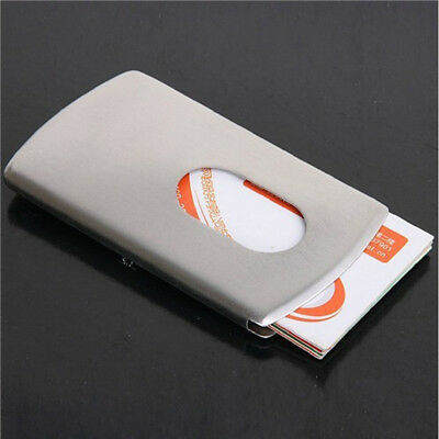 Stainless steel modern thumb slide out pocket business credit card business office thumb slide out money case stainless steel credit card holder colourmoves