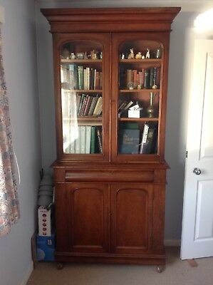 A Victorian mahogany cabinet bookcase second half 19th century