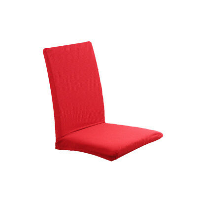Simple Seat Covers Kitchen Bar Dining Chair Cover Hotel Wedding Decor Red