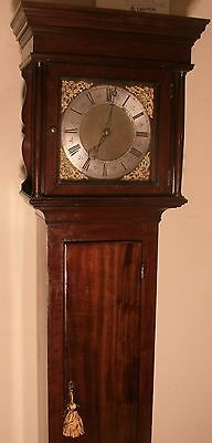 "Antique  Slim Mahogany Brass Dial "" London""   Longcase / Grandfather Clock"
