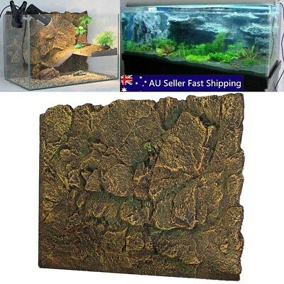 3D PU Rock Reptile Aquarium Fish Tank Background Board Plate Decorations 60X45cm