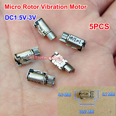 5PCS DC1.5V-3V Micro 4mm*10mm Rotor Vibration Motor Mobile Phone Vibrating Motor