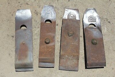 4 x old plane blades and irons. Mathieson etc