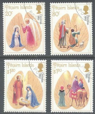 PITCAIRN ISLANDS 1991 Christmas Set to $1.80 (4) CTO