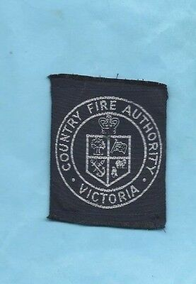 (Very Rare) COUNTRY FIRE AUTHORITY VICTORIA Woven Patch (Victoria)