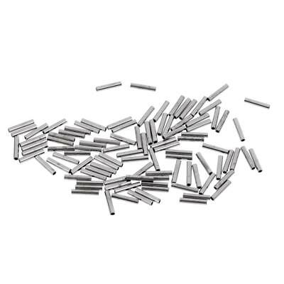 8mm Single Fishing Crimps for Rig Making-Various Sizes from 1.4x8mm