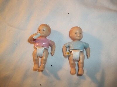 Fisher Price Loving Family Doll House Dolls Family Twins Baby Boy & Girl Babies
