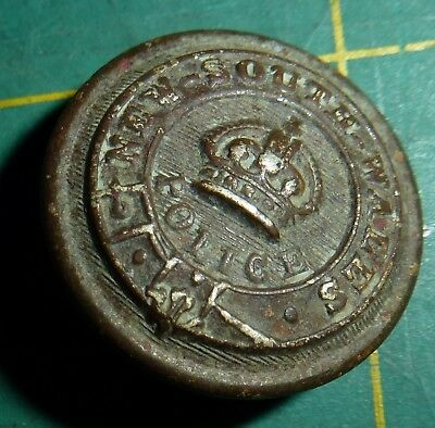 Older NSW Police Button - Made in England by Cross Swords