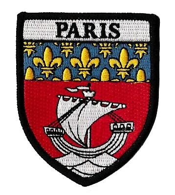 Patche ville PARIS écusson brodé transfert patch thermocollant armoiries