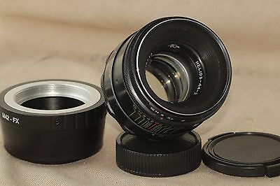 Helios 44-2 58mm F2 Russian Lens + adapter for FujiFilm FX Mount X-Pro1 X-E1