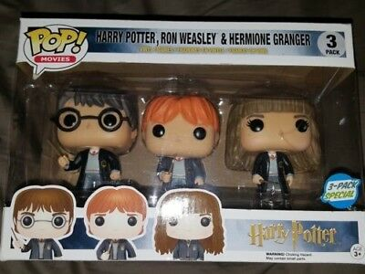 Harry Potter, Ron Weasley & Hermione Granger 3 Pack Pop Movies