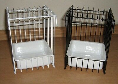 Canary Wire Bird Bath For Cage Or Aviary - Available In Black Or White