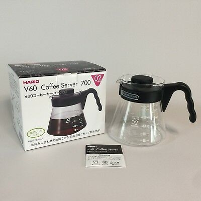 Hario V60 Glass Coffee Server 700ml VCS-02B Decanter Microwave OK Made in Japan