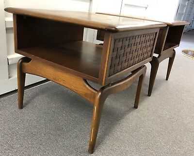 Lane Mid Century Modern End Tables Danish Style