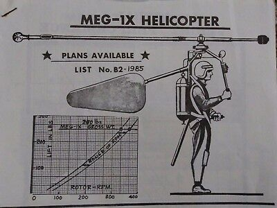Original Gluhareff Pressure Jet and Helicopter Rotor Blade Drawings & Manual