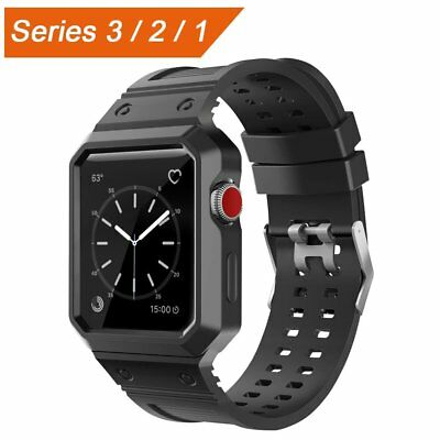 CTYBB Apple Watch Band 42mm with Case, Breathable iWatch Bands with Shock-proof