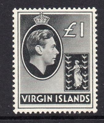 Virgin Islands One Pound Stamp c1938-47 Mounted Mint