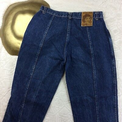 VTG 80s Jeanjer Womens Mom Jeans High Waisted Classic Wash Cotton Tapered Size 9