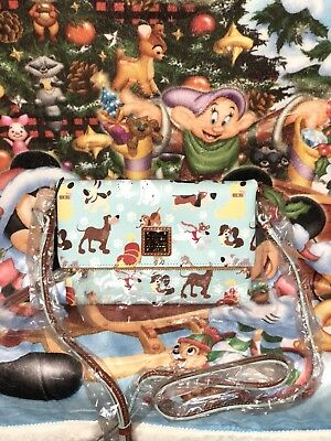 Dooney & Bourke Disney Dogs Foldover Zip Crossbody Purse Bag NWT Sold Out  B