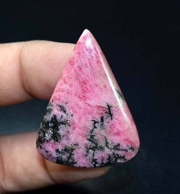 66.35 Cts. 100 % Natural Reddish Pink Rhodonite Pear Cabochon Loose Gemstones