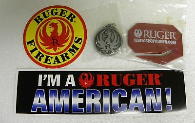 Ruger Key Chain, letter opener and stickers