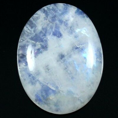 24.35 cts Natural Lovely Quality Rainbow Moonstone Gemstone Oval Loose Cabochon