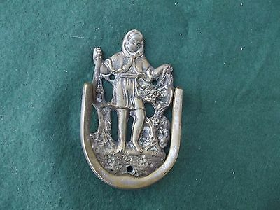 Small Vintage Art Nouveau Lady In Robes Door Knocker