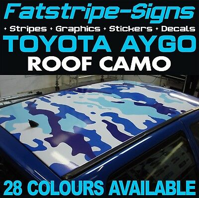 Toyota Aygo Camo Roof Graphics Stickers Stripes Decals Ab10 Ab40 Vvti 1.0 1.2