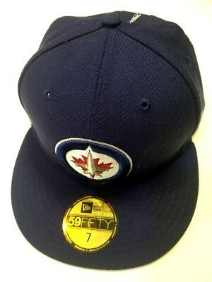 huge discount 579cb 47cc6 ... where to buy new era winnipeg jets navy blue 1 tone 59fifty fitted hat  7 55.8