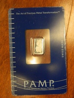 Pamp Suisse Platinum Bar 1 G One Gram .9995 Fineness Check Pics! (837)