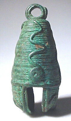 Pre-Columbian Large Aztec Copper Bell Ex: Sotheby's '80