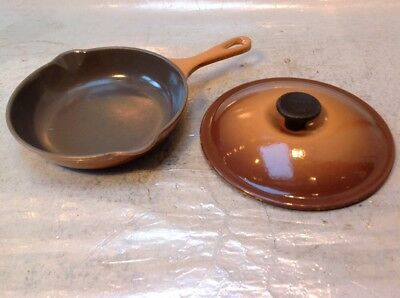 Quality Le Creuset Size 20 Cast Iron And Brownish Enamel Great Order + A Lid