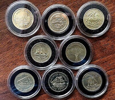 £1 One Pound Coins. Isle Of Man, Gibraltar, Guernsey, Jersey,