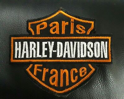 Patch Ecusson Harley Davidson Motorcycles Johnny Hallyday Paris moto Biker BADGE