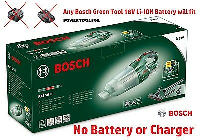 6 ONLY! Bosch-PAS18Li (naked) Cordless Vacuum Cleaner 06033B9001 3165140761802#A