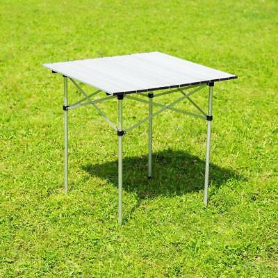 Aluminium FOLDING TABLE Roll Up Camping Outdoor Indoor PARTY Travel Carry Bag