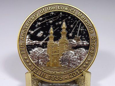 77th Anniversary of the LOWICZ meteorite shower - 2012 coin